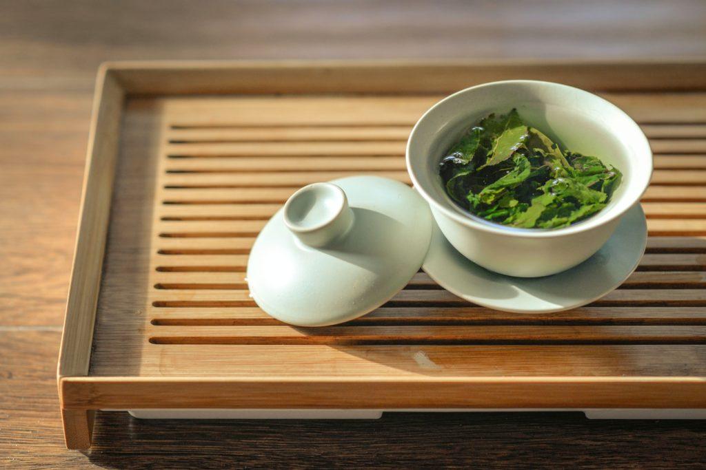 chá verde xícara